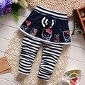 2016 Inverno do Outono do Algodão Quente Estilo Dos Desenhos Animados Coreano Harem Pants Calças Do Bebê 0-2 Anos de Bebê Meninas Bonito Bowknot Calças saia