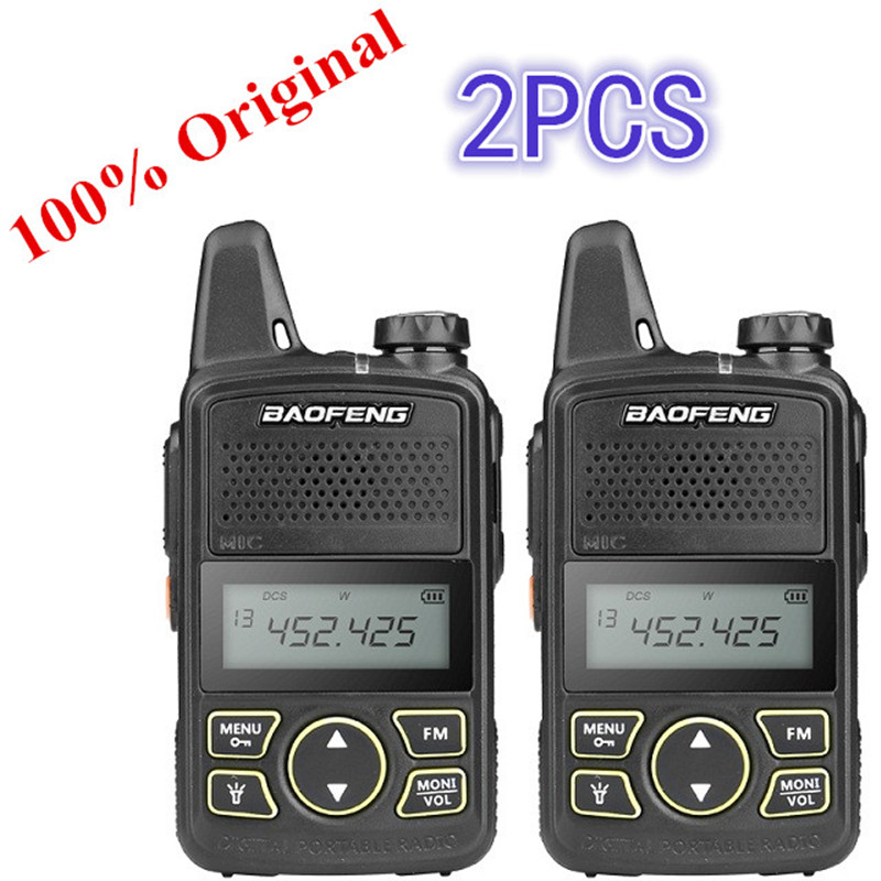2PCS Baofeng BF-T1 Mini Walkie Talkie UHF Portable Two-way Radio BF T1 Ham Radio Handheld FM Transceiver Kids 5km CB Radio Inter