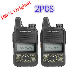 цена на 2PCS Baofeng BF-T1 Mini Walkie Talkie UHF Portable Two-way Radio BF T1 Ham Radio Handheld FM Transceiver Kids 5km CB Radio Inter