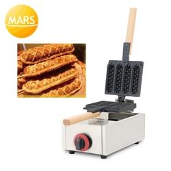 LPG Gas Professional Crispy Muffin Corn Hot Dog Waffle Maker Non-stick French Muffin Sausage On A Stick Machine