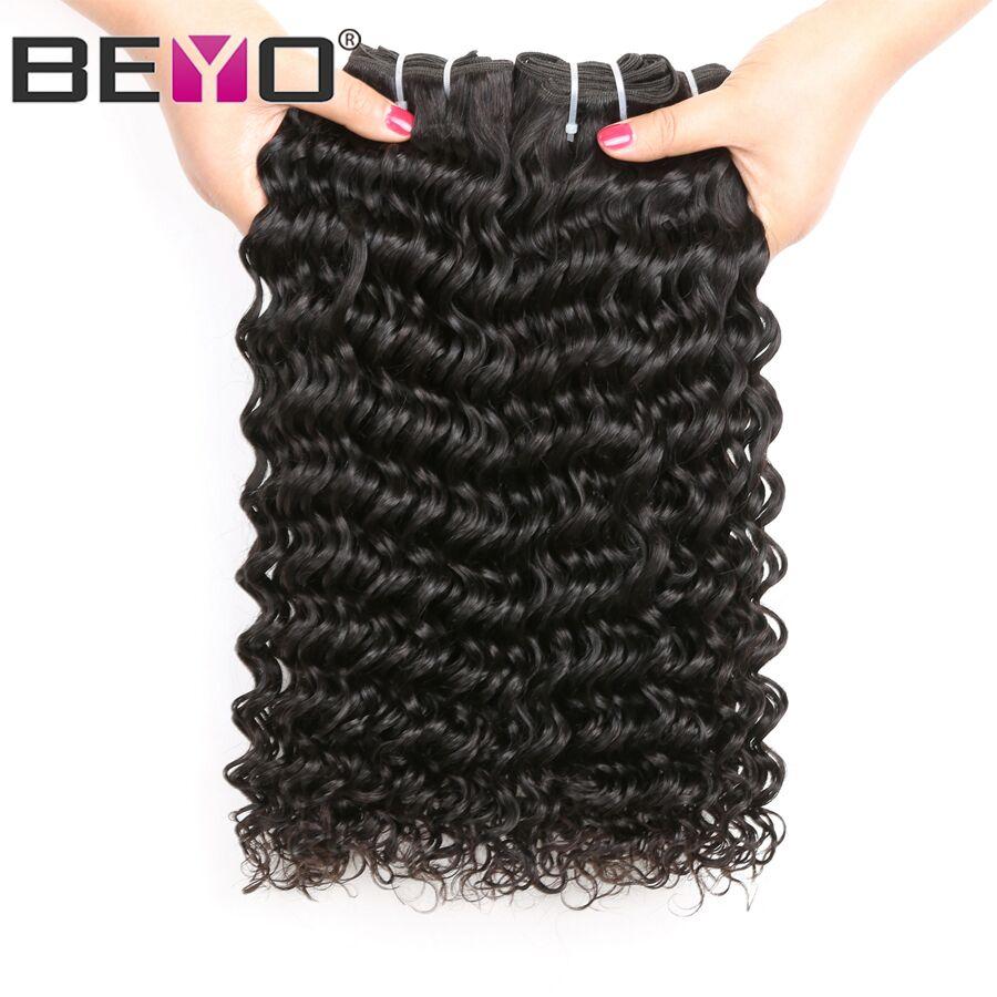 Beyo Hair Peruvian Deep Wave Hair Bundles Natural Color 100 Human Hair Weave Bundles 10 28