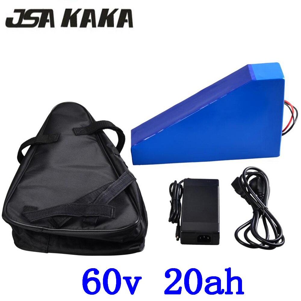 60 V batterie de scooter électrique 60 v 20AH vélo électrique batterie 60 V 20AH ebike batterie 60 v batterie au lithium avec 67.2 V 2A chargeur