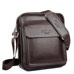 Поло Для мужчин сумка на плечо из натуральной кожи Для мужчин сумка Классическая сумка моды Повседневное Бизнес плеча Сумки для Для мужчин ...