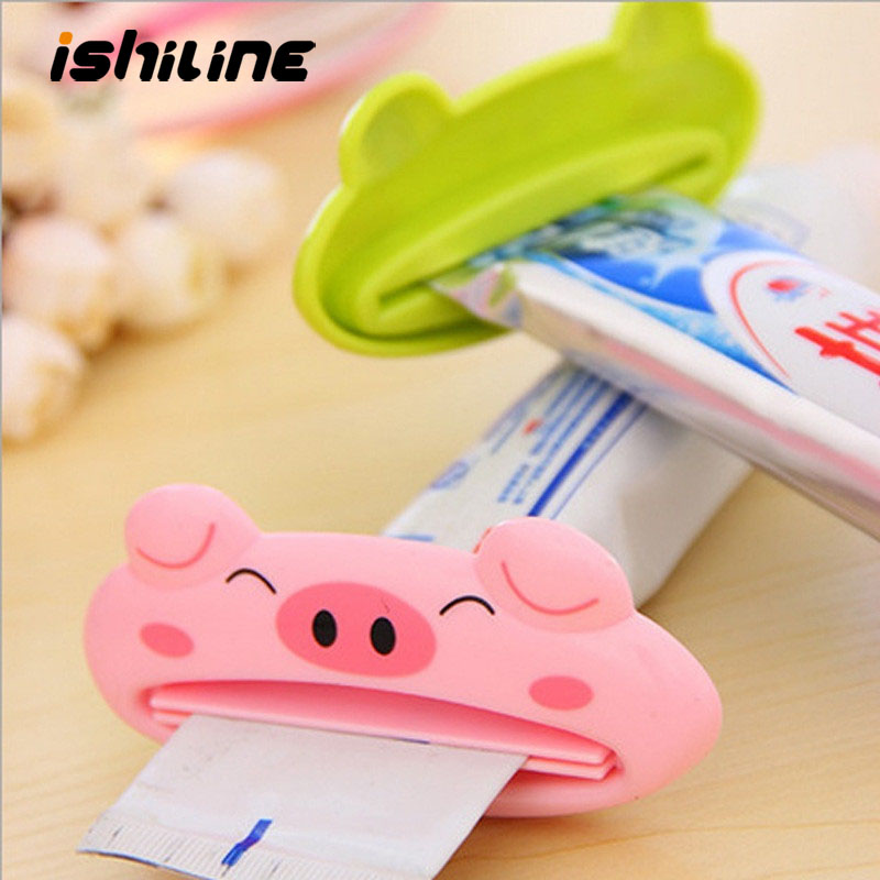 Bathroom Home 1pc 9cm*4 Cm Cute Tube Rolling Holder Squeezer Easy Cartoon Toothpaste Dispenser Accessories
