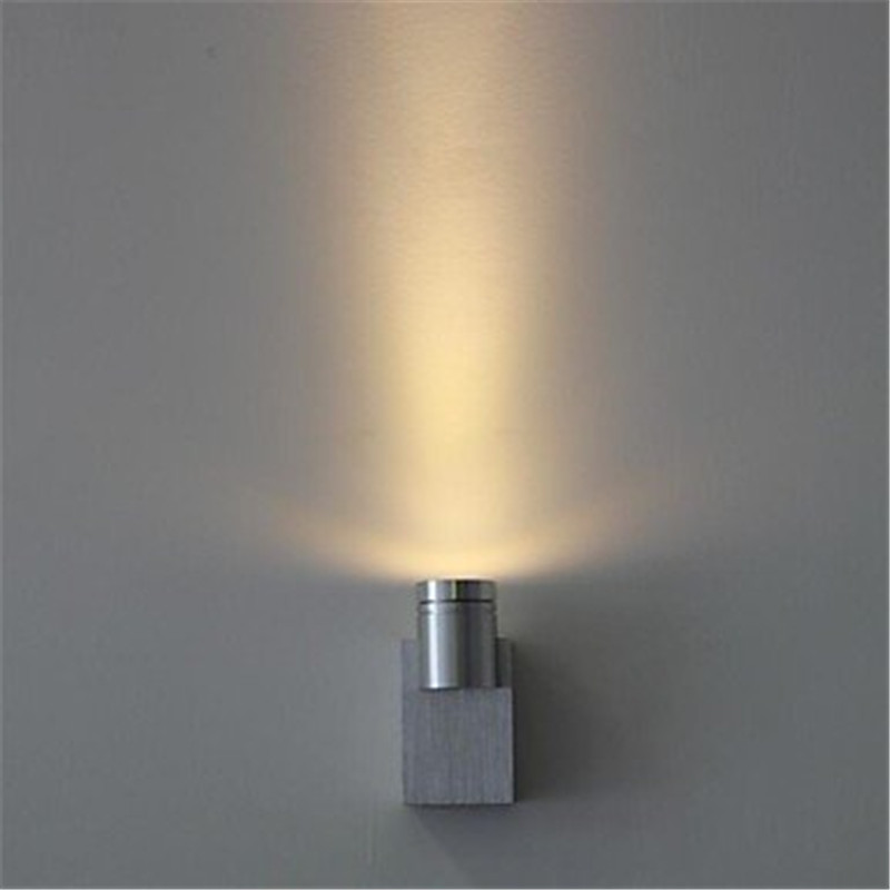 Mini 1W Or 3w LED Wall Light Up Side Aisle Stair Sconce Lamp For Bedroom  Walkway