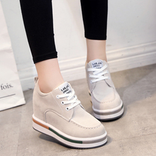 New 2016 spring women Shoes High Top sport Suede Leather Boots women Trainers Breathable British Style Basket Femme