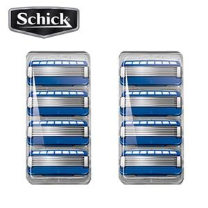 Image 3 - Сменные лезвия для бритвы Schick Original Hydro 5, 8 лезвий/партия, 2019, новая посылка, лучшая замена