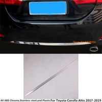 Car body cover protection bumper stainless steeel trim rear back tail bottom hood 1pcs For Toyota Corolla Altis 2017 2018 2019