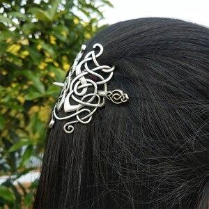 Image 4 - 10 PCS נורדי ויקינג סלטיקס Knotwork מכבנת שיער תכשיטי לנשים Cetilcs שיער תכשיטים