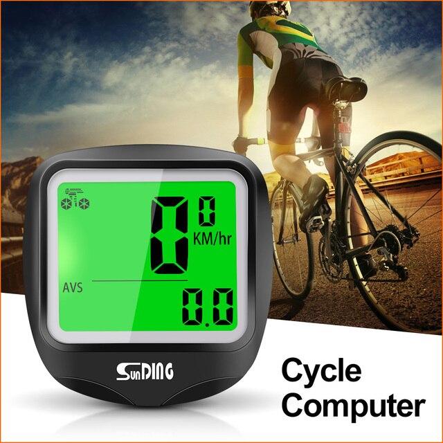 Sunding SD-568AE Bike Cycling Computer Computer Tachimetro Della Bicicletta Senza Fili Impermeabile Cronometro Contachilometri LCD Retroilluminato Nero 3