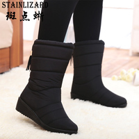 Women Snow Boots 2016 Fashion Fringe Solid Women Boots Winter Waterproof Casual Boots Classic Wild Ladies
