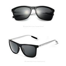 Men Women Retro Aluminum+TR90 Sunglasses Polarized Sunglasses Vintage Eyewear For Design Unisex