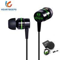 New URBANFUN 3 5mm Youth Edition Earbud Headphone Hybrid Headset HiFi Metal Headset Earbud Headset Microphone