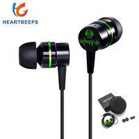 New URBANFUN 3 5mm Youth Edition Earbud Headphone Hybrid Headset HiFi Metal Headset Earbud Headset Microphone