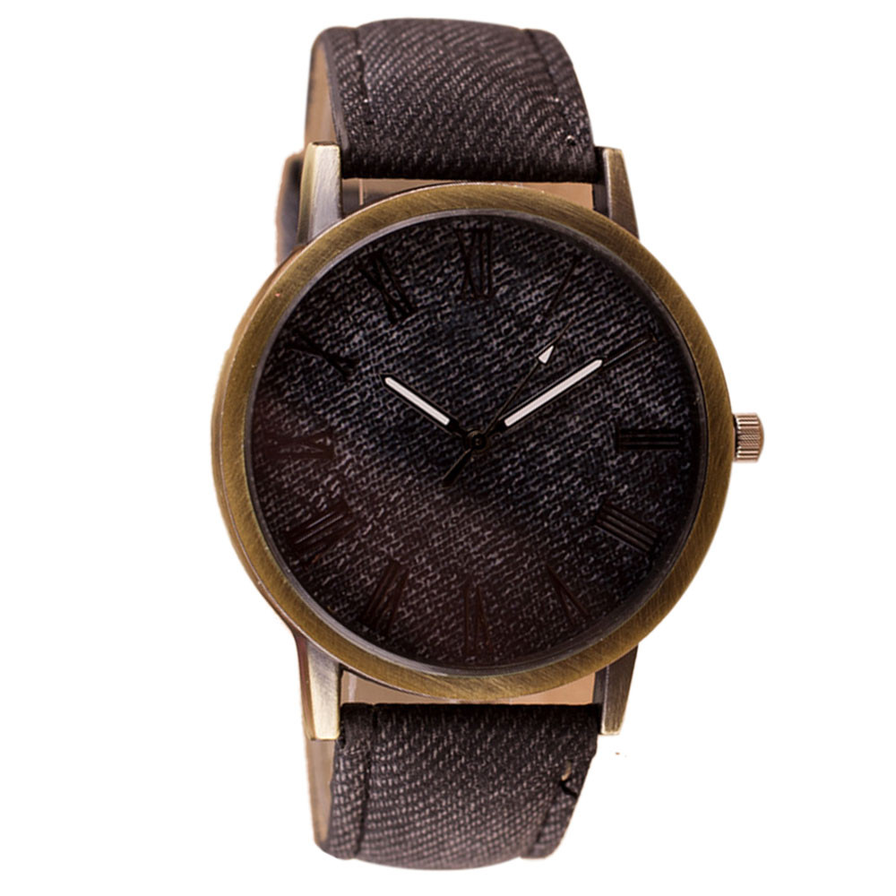 SmileOMG Retro Vogue Men s Fashion WristWatch Cowboy Leather Band Analog New Fashion Casual Quartz Men