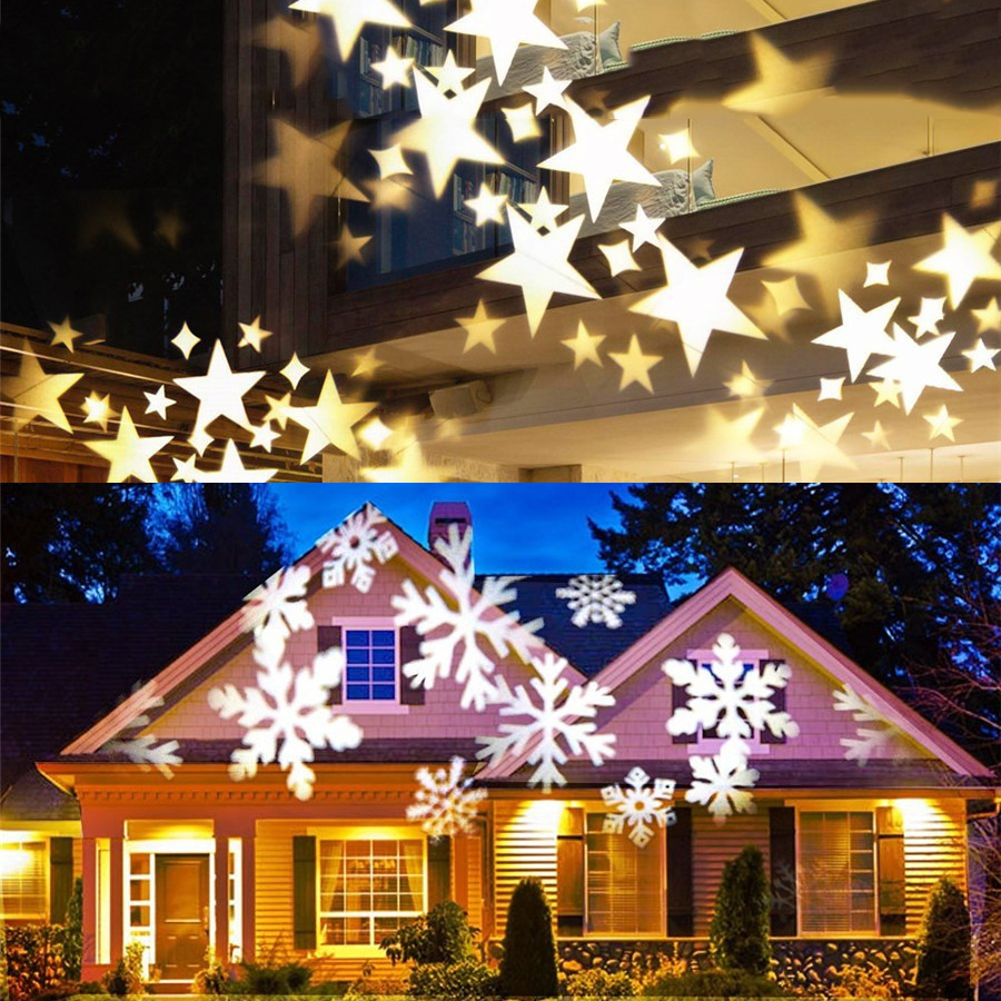Thrisdar Outdoor Sky Star Laser Projector Snowflakes Snow Christmas projector Spotlight Landscape Park Outdoor Laser Stage Lamp led star projector lamp