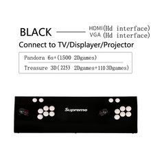 Newest arcade Pandora 6s+ 2363games Arcade Console USB Joystick Buttons With  2 Players Control Retro 3D Game Box