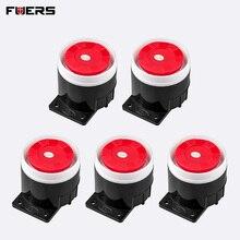 FUERS 5Pcs 10Pcs 120dB Laut Alarm Sirene Mini Verdrahtete Sirene Horn für Home Security Alarm System W17 W18 w20 8218G 10A G2 G18 G19