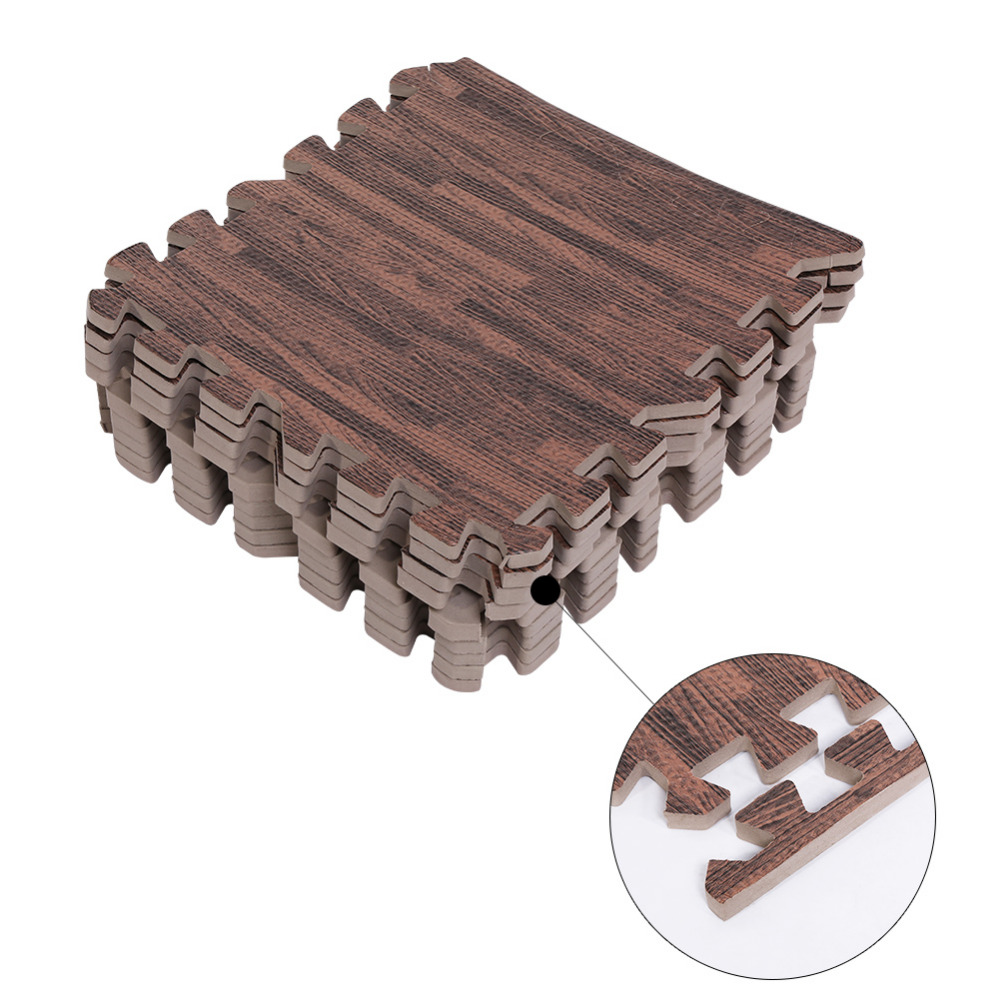 9pcs baby play door floor mat wood puzzle mats eva foam mat kids game exercise carpet gym mat. Black Bedroom Furniture Sets. Home Design Ideas
