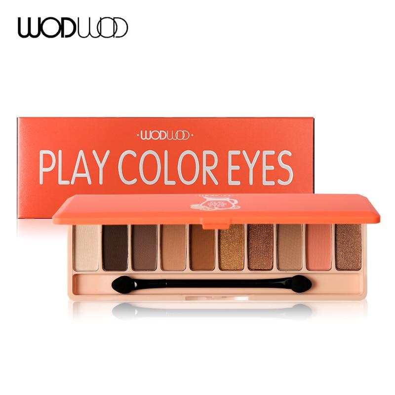 WODWOD 10 színben csillogó szemhéjfesték paletta smink hosszú - Smink