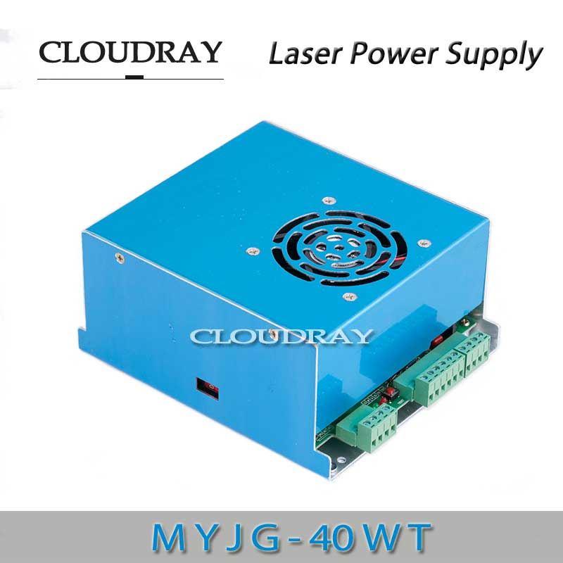 Cloudray CO2 40wt Laser Power Supply MYJG 40WT 110V 220V High Voltage 35-50 Watt For Laser Tube Engraving Cutting Machine laser power supply high electricity adapter connector for laser machine