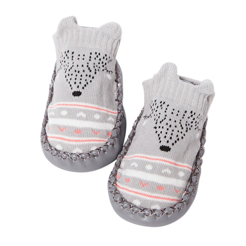 Crib-Shoes Booties Slipper Infant Soft Baby-Boys-Girls Winter Warm 0-12M Love 13 Plush