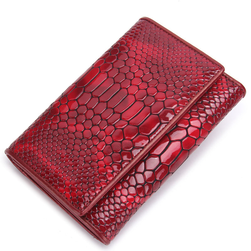 Top Quality Genuine Leather Crocodile Purse Famous Brands Long Purse Card Holder Hand Bag Fresh Style Large Capacity Wallet Red zuoyi crocodile leather original zipper snap multifunctional in large capacity and long wallet