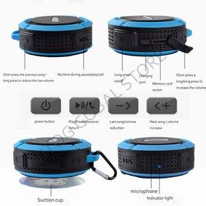 Image 5 - Bluetooth スピーカーミニポータブル防水ワイヤレススピーカー吸盤サポート TF カード iphone スマートフォン屋外スピーカー