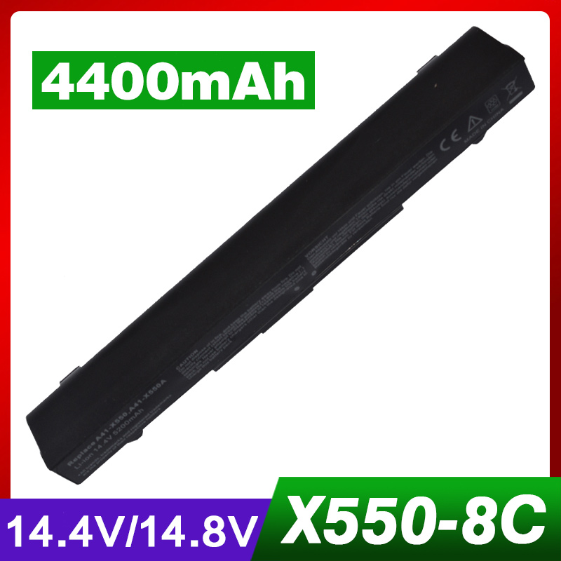 8 cells 4400mAh 14.8V Laptop Battery For ASUS X450 R409 R510 A41-X550 A41-X550A F550 F552 X550 A450 A550 K450 K550 P450 P550