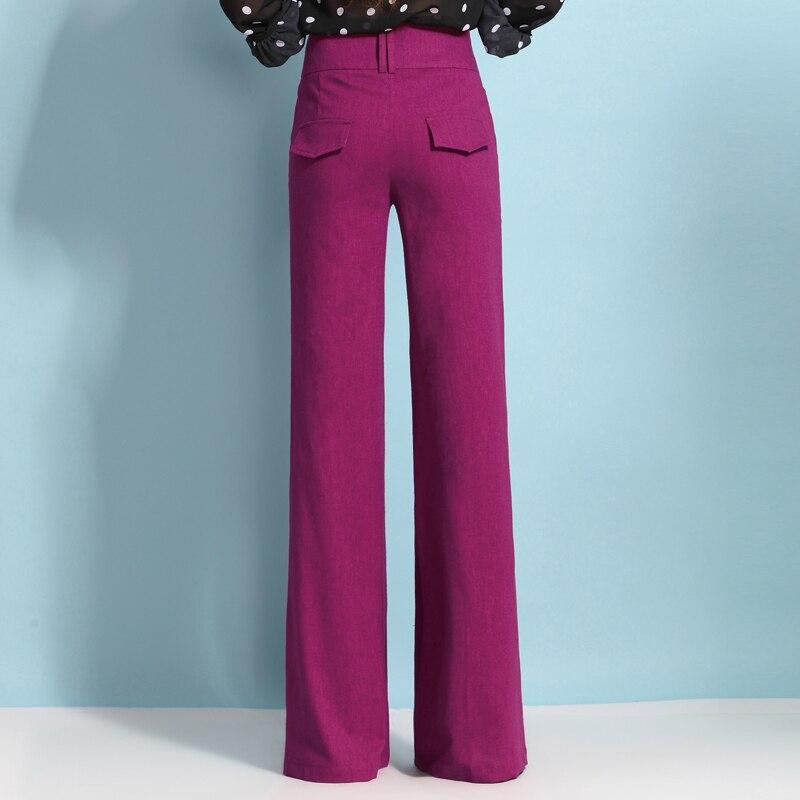 Printemps Beige Et Jambes Pantalons rouge Longues Taille vert D'origine Mince Pantalon Larges Automne Haute pourpre Acrmrac noir bleu À Occasionnels Linge Z45qxE