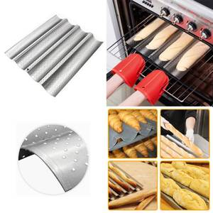 Bread-Baking-Tray Baguette Bake-Mold Carbon-Steel French Wave 2 4 for Pan Groove 100%Food-Grade