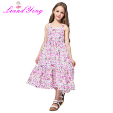 2-12 Years Girls Summer Dress 2019 Toddler Girls Princess Dress For Party Robe Enfant Kids Dresses For Girls Flower Girl Dresses robe enfant toddler girl dresses with cat print kids summer dress girls clothes 2017 brand princess dress with sashes 2colors