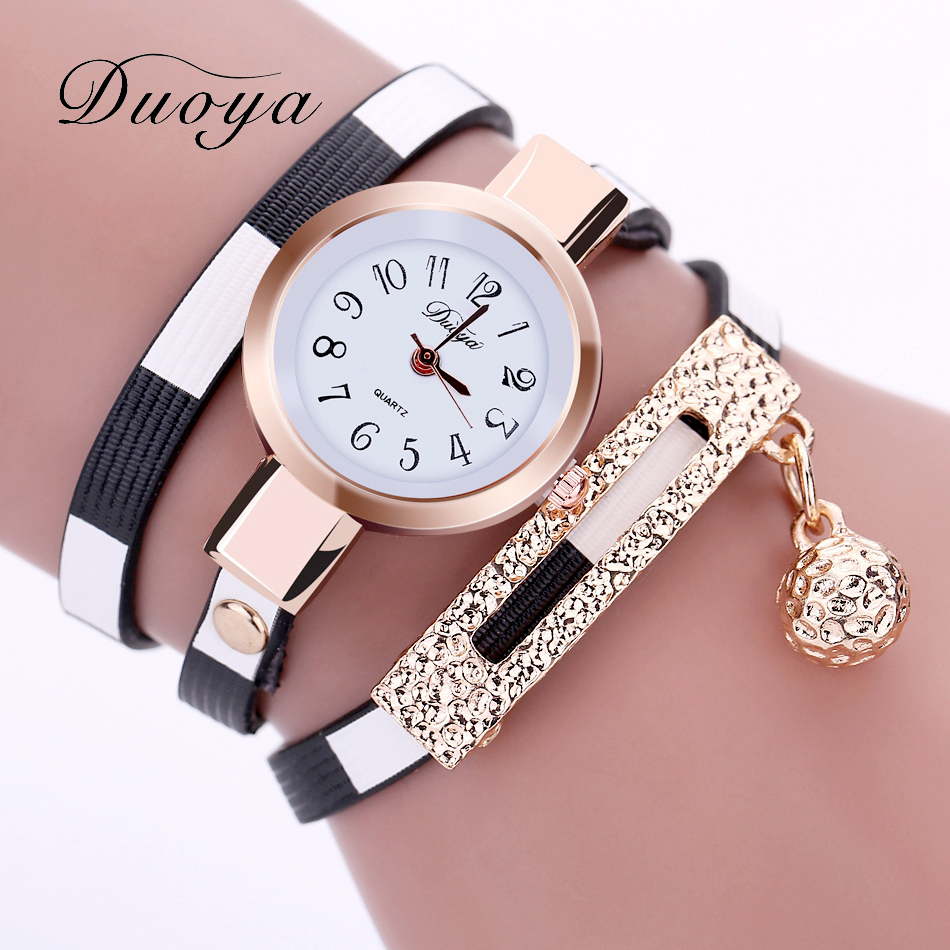 Dropshipping Leather Watch Luxury Gold Rhinestone Women Armband Armbandsur Ladies Kvinnors Fashion Business Watch
