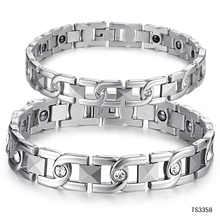 Chain & Link Lovers' Bracelet Anti-Fatigue Energy Balance Women Men Bracelets 316L Stainless Steel Health Care Jewelry GS3358