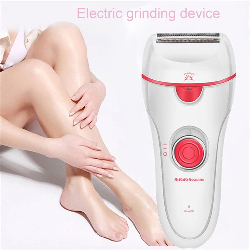 Three-in-one Electric Foot Grinder Shaver Removable Head Defeatherer With Light Charge Indicator Electronic Foot File