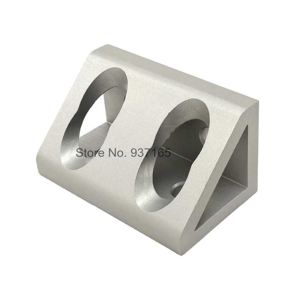 4 hole Inside Guesset Corner Angle L Brackets Fastener Fitting Round Hole for 4080 Aluminum Profile Extrusion 4080 4 hole inside guesset corner angle l brackets fastener fitting round hole for 4545 45x45 aluminum profile extrusion 4545