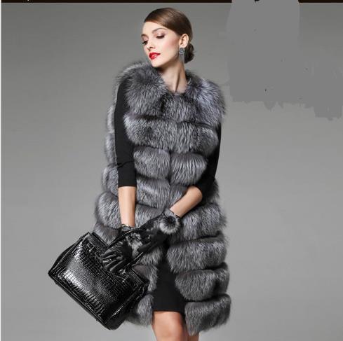 f589cf196bf3b 2018 Winter Women s Faux Fur Coat Artificial Fur Vest Furry Vests Femme Jackets  Plus Size Warm Fake Fur Gilet Z191