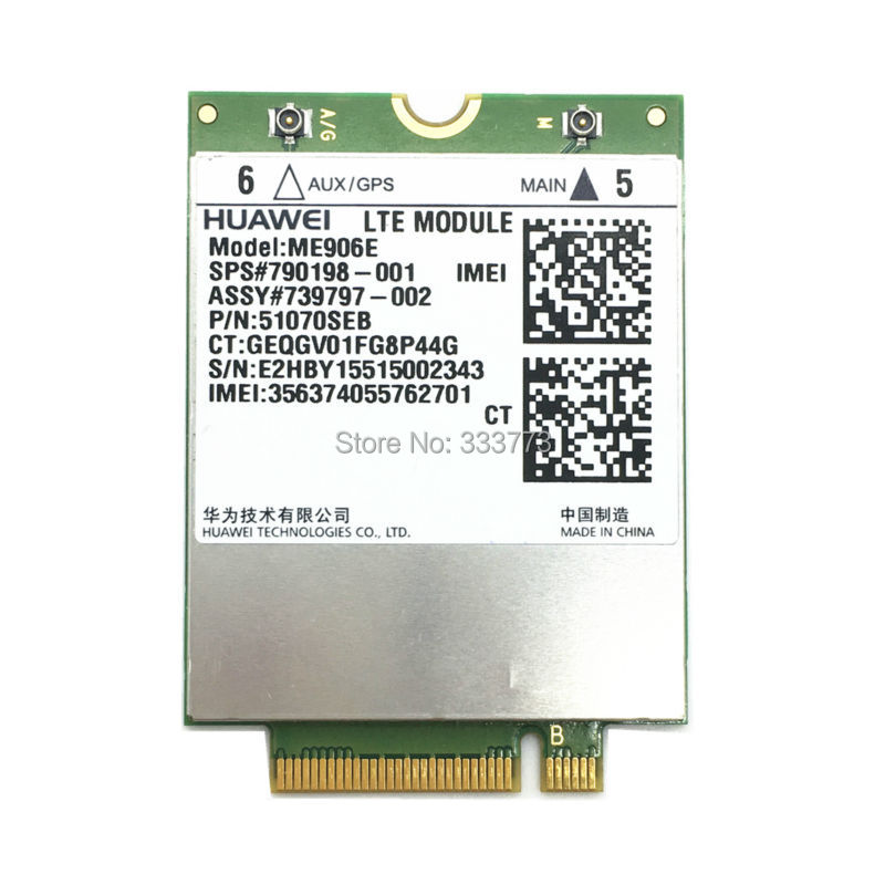Для Huawei me906e NGFF LTE/HSPA + FDD 4 г WLAN WCDMA модуль карты 790198-001 для разблокировки HP lt4112