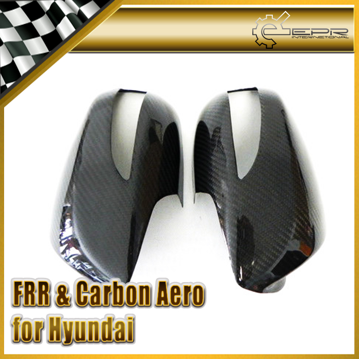 EPR Car Styling For Hyundai Genesis Rohens Coupe 2008-2012 Carbon Fiber Mirror Cover Glossy Fibre Side Accessories Racing Trim