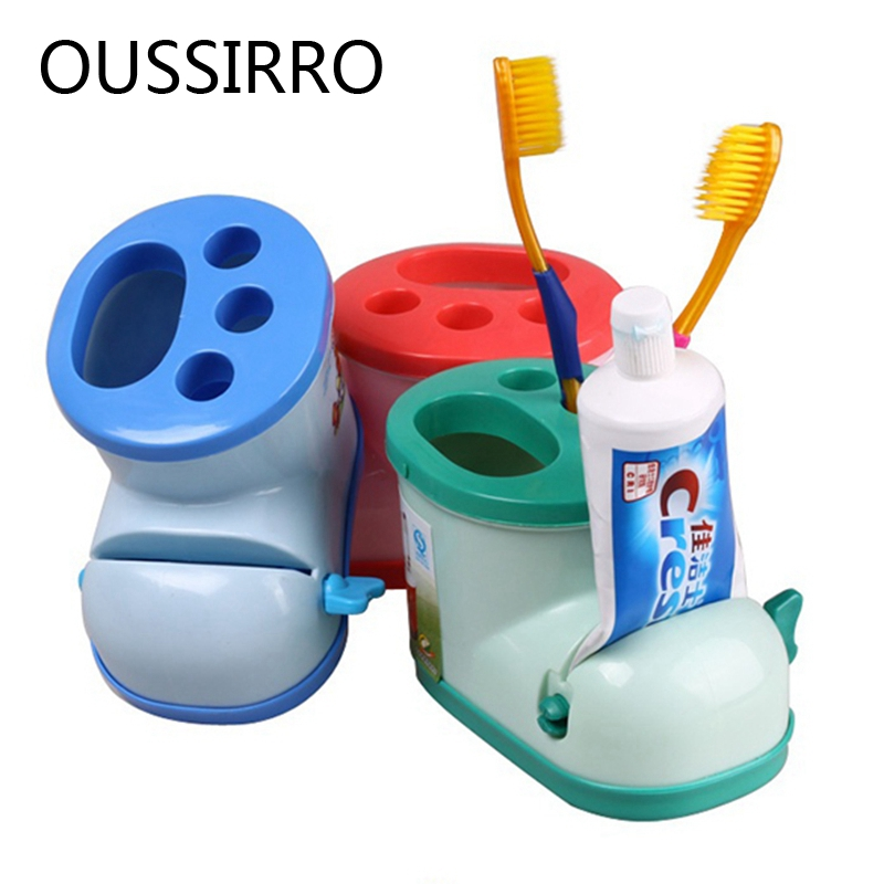 Boots Toothbrush Squeezer for bathroom Toothpaste Squeezer Tooth Brush Shelf Holders Toothbrush Stand Tooth Brush Dispenser image