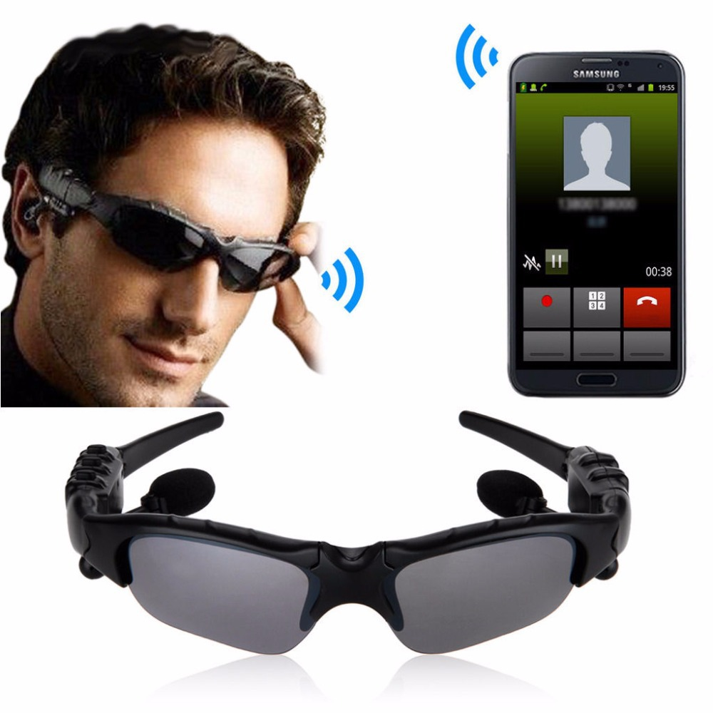 New Spied 3 D Sun glasses Style BLuetooth Headphones Headset Earhook for Sport Driving Bicycling бампер new sun 2013 4s
