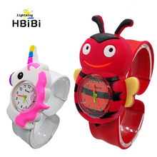 3D bee Pony pattern Kids Watches slap Pat Wrist Wat