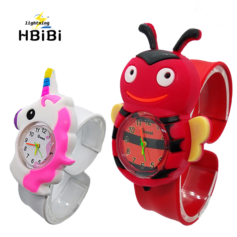 3D Bee Horse Pattern Kids Watches Slap Pat Wrist Watch Electronic Sports Children Watch Boys Girls Baby Clock Relogio Masculino