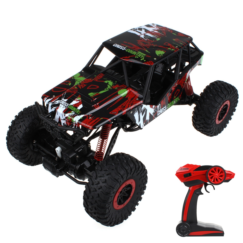 RC Car 1 / 10 Scale 2.4G Four-wheel Drive Car Rock Crawler Remote Control Car Model Off-Road Vehicle Toy RC Cars Kids Xmas Gifts jjrc q36 off road rc car 3 5ch rock crawlers 4wd 30km h driving car 1 26 remote control model vehicle toy for children kids