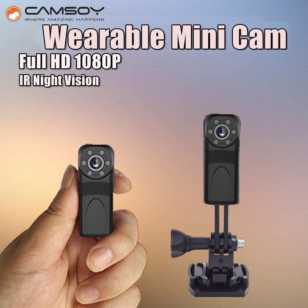 MD50Full HD 1080 p Micro Macchina Fotografica di Visione Notturna A Raggi Infrarossi Mini Kamera Sensore di Movimento Mini DV DVR Cam Piccolo Mini Videocamera camara Espia