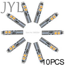 10PCS T5 58 70 Warm White Dashboard Gauge 5-3528-SMD LED Light Car Signal Bulbs