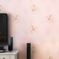 3D Vintage Home Decor Embossed Flocking Pastoral 3d Wallpaper European Contact Bedroom Wall Paper Living Room