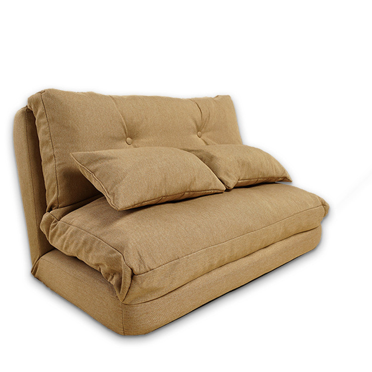 Fabric Upholstery Foldable Couch Living Room Furniture Sofa Japanese Floor Lazy Couch Bed With Pillow Folding Recliner Couch title=