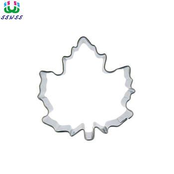 小さな秋クッキービスケット金型、 d スタイル赤カエデの葉形状ケーキデコレーションツール、クレイジー直接販売