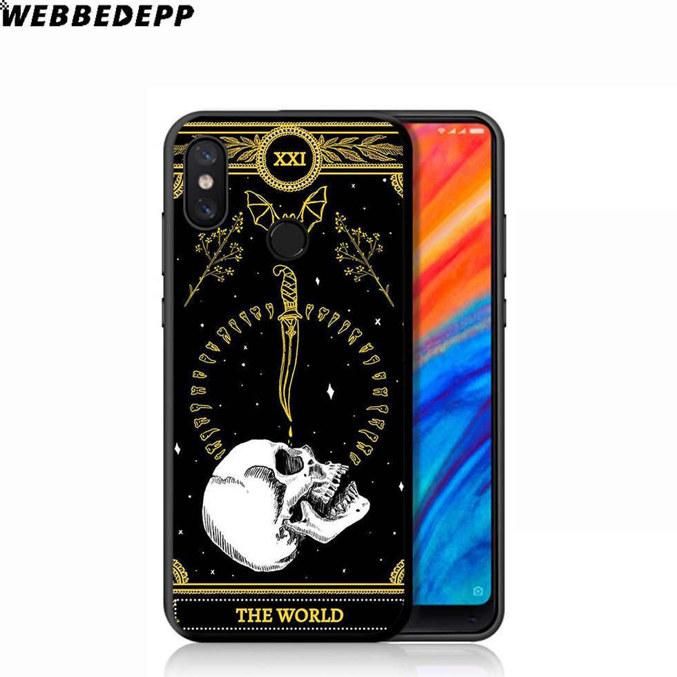 WEBBEDEPP Marigold Tarot Kafatası Kart Yumuşak Kılıf için Xiaomi mi mi 9T 9 8 SE 6 A1 A2 A3 lite mi A1 mi A2 mi A3 mi F1 MAX 3 mi 8 CC9E CC9
